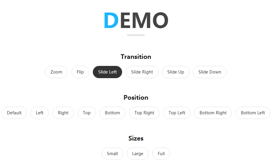 HTML5效果非常全面的模态窗口弹出层插件