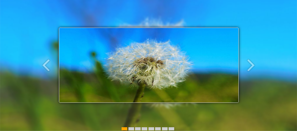 jQuery响应式宽屏图片3D旋转切换特效