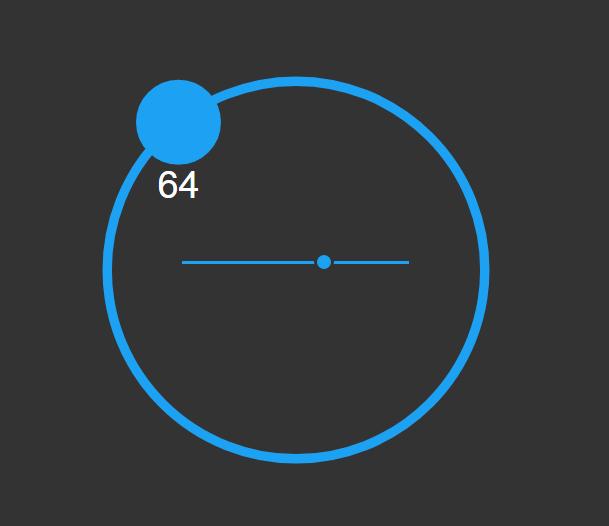 SVG交互式滑块特效拖动特效圆形进度条特效