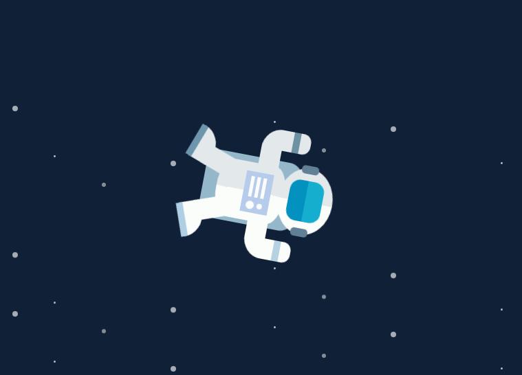 CSS3的宇航员动画特效