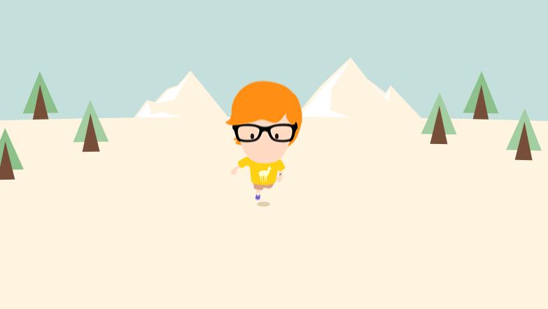 CSS3的可爱卡通人物奔跑动画