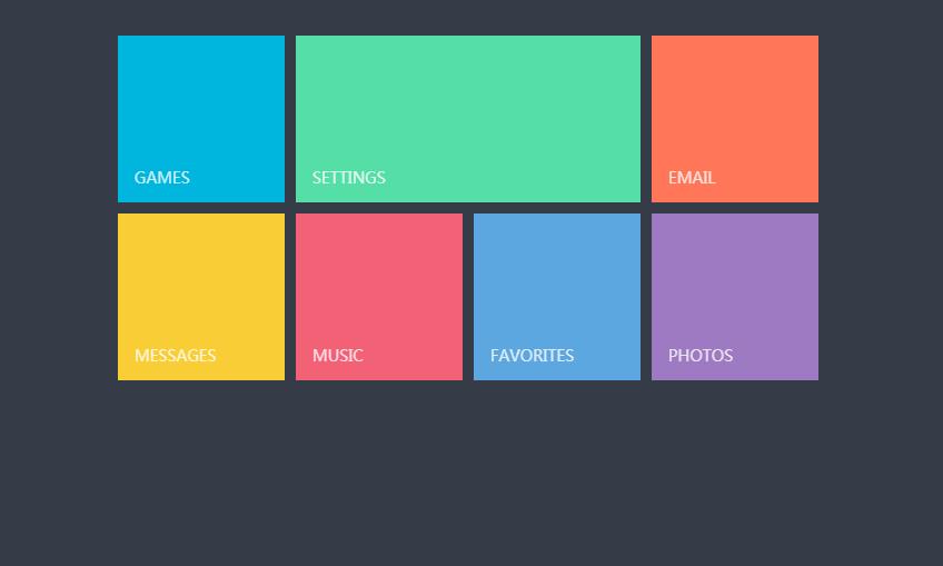 CSS3的仿windows8 Metro风格界面布局效果