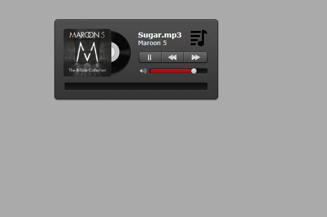 H5黑色质感音乐播放器插件