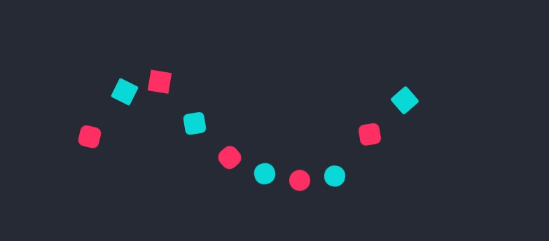 CSS3方块与圆形跳动loading加载动画