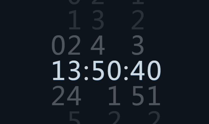 CSS3+js简单数字时钟代码