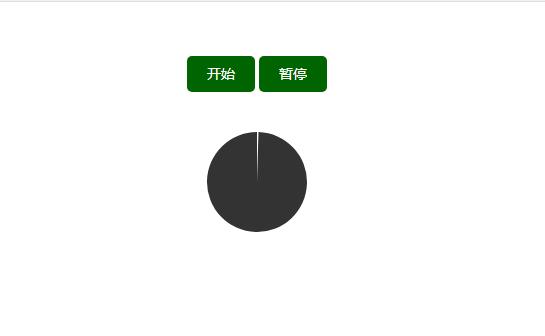 带开始暂停按钮的html5圆形计时器代码