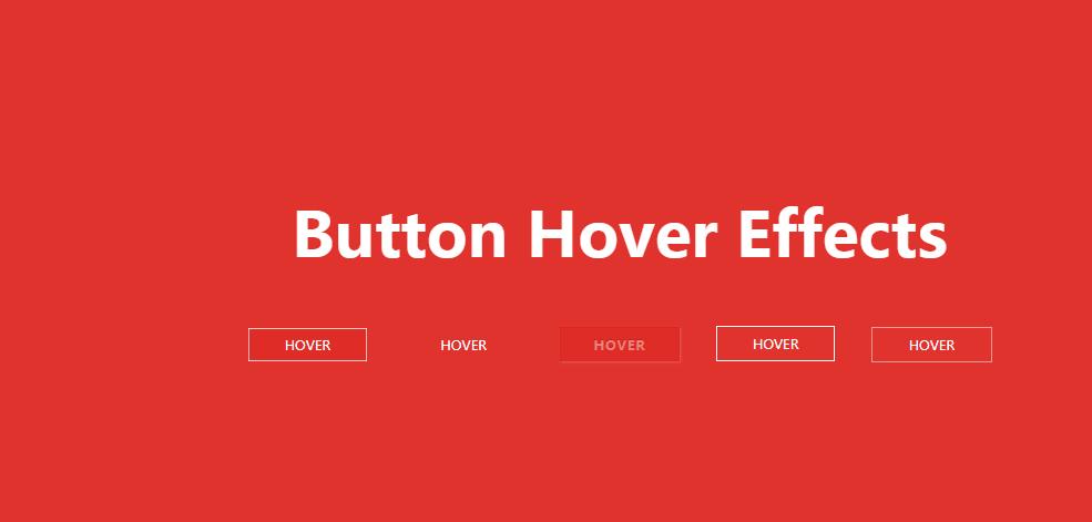 jQuery一组简单漂亮的鼠标悬停按钮动画特效