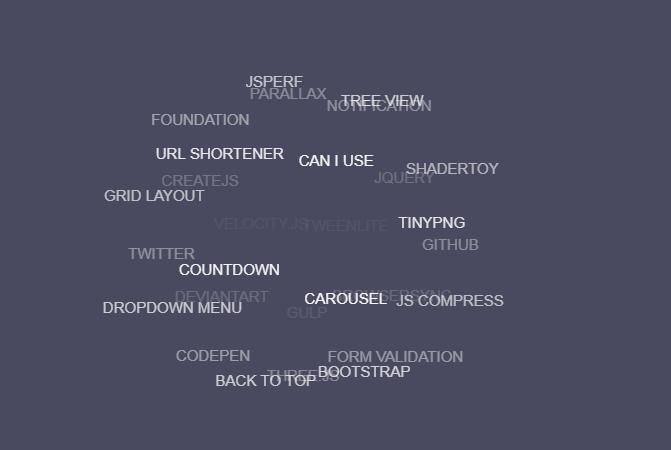 HTML5 3D动画标签云代码