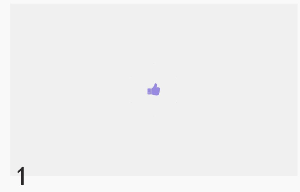 HTML5 SVG字体图标点赞动画特效