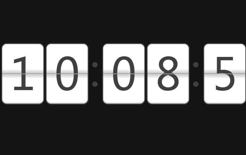 css3+h5的带翻页效果的数字时钟代码