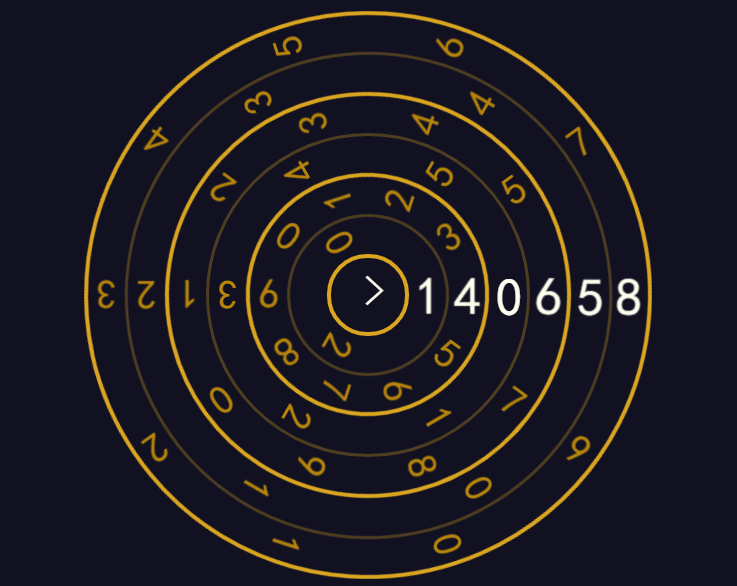 CSS3创意圆盘数字时钟动画特效