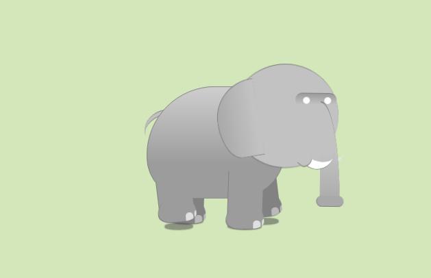css3可爱的卡通大象动画特效