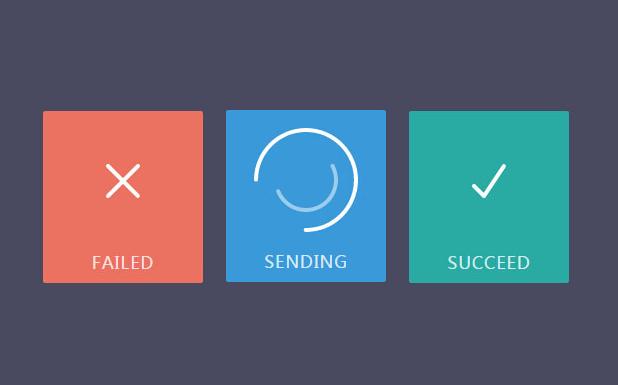 jQuery+SVG实现Loading加载按钮动画图标特效