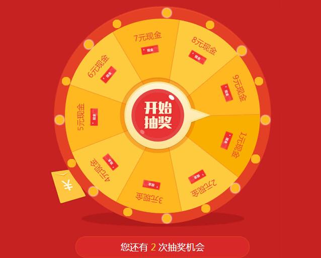 jQuery+红色喜庆的手机微信抽奖代码