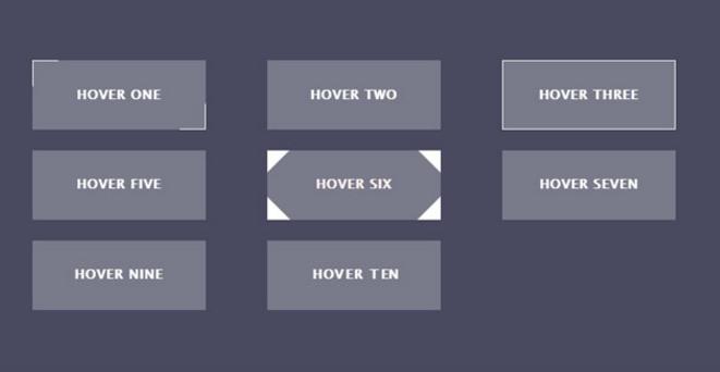 CSS3+html5鼠标悬停按钮动画特效