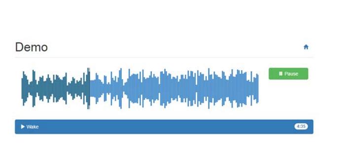 HTML5可视化音频波纹音乐播放器代码