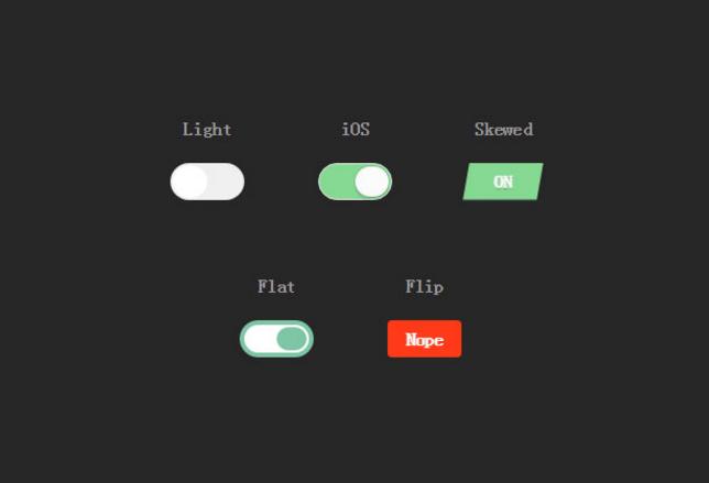 H5+C3漂亮的5个单选按钮美化动画代码
