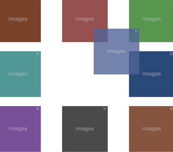 jQuery网格布局图片自由拖动排序代码