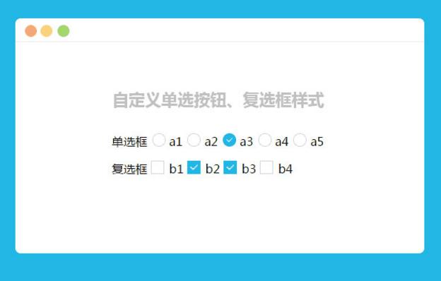 jQuery自定义单选按钮复选框样式特效
