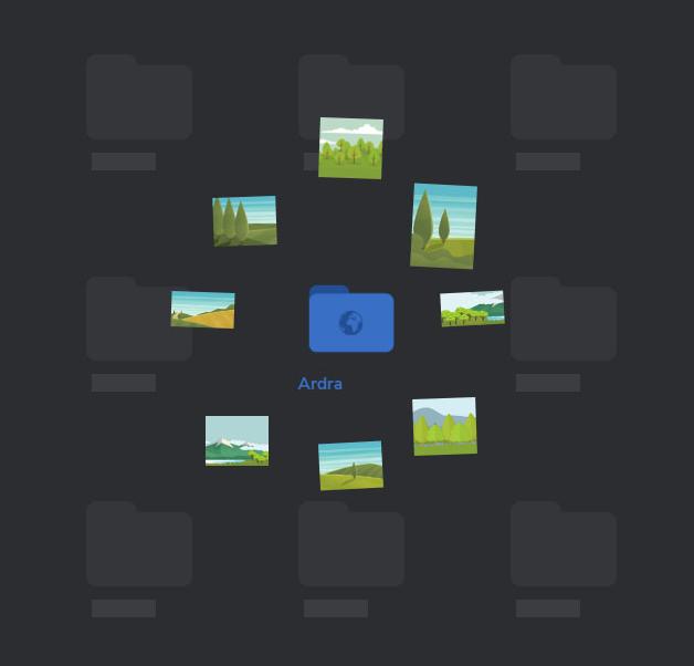 HTML5的交互式动画效果文件夹预览查看特效