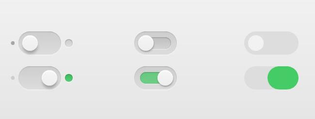 风格清新漂亮的CSS3开关按钮样式