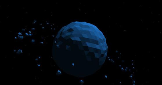 html5 canvas天体运动动画特效