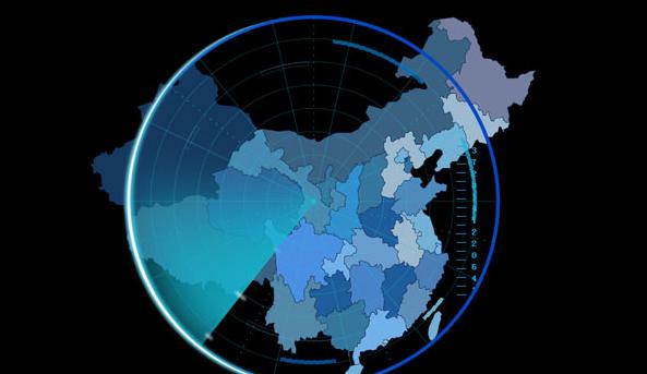 HTML5雷达地区扫描动画特效