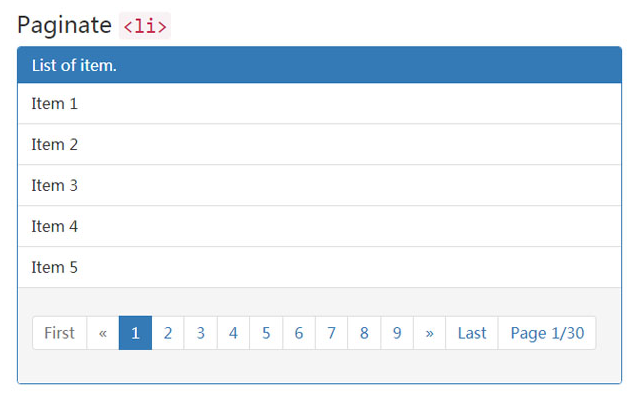 jQuery基于Bootstrap分页插件