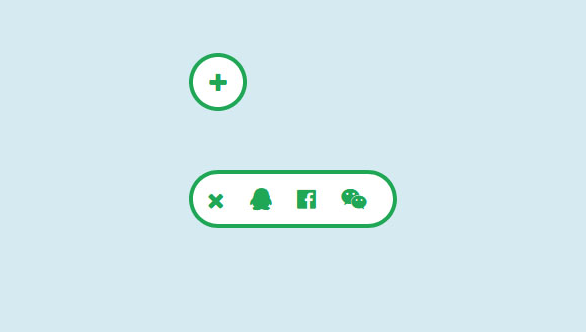 jQuery点击滑动显示分享按钮代码