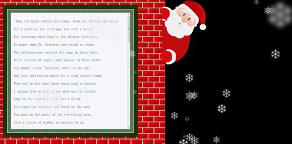 jQuery侧边圣诞老人滑动面板