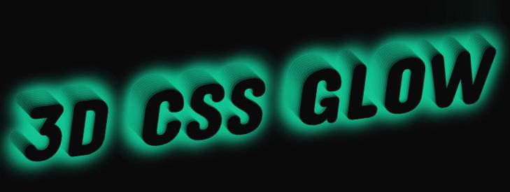 CSS3 3D立体文字变色发光动画特效