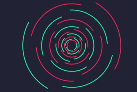 CSS3创意圆形线条旋涡动画特效