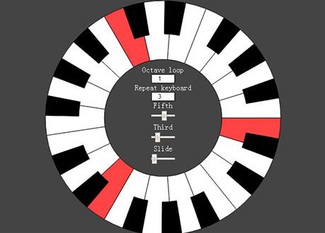 可弹奏的HTML5 SVG圆形钢琴特效