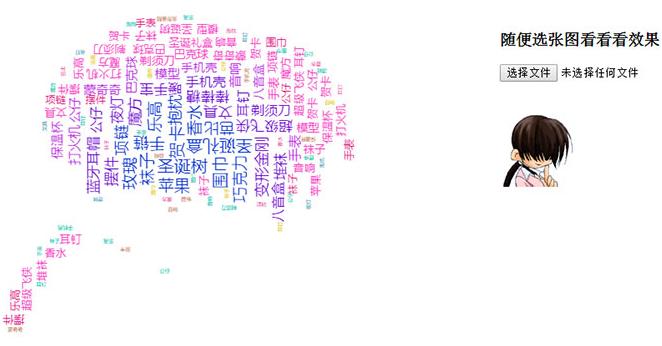 jQuery+echarts+css3上传图片生成文字标签云代码