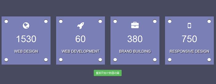 Bootstrap+jQuery实现数字增长动画特效