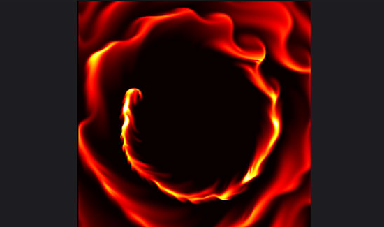 html5+canvas绘制抽象液体流动火焰动画特效