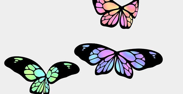 HTML5+Canvas绘制漂亮的蝴蝶飞舞动画特效