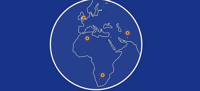 html5 svg圆形世界地图热点动画展示特效