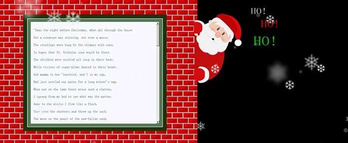 jQuery+CSS3+H5左侧边栏圣诞老人滑动面板特效