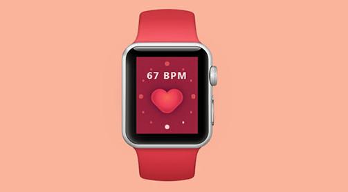 CSS3实现苹果iwatch手表样式app脉搏跟踪器动画特效