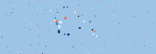 html5+canvas圆形粒子移动背景动画特效