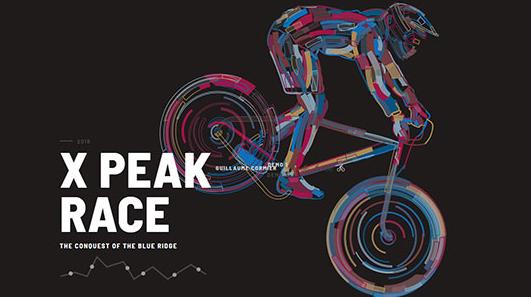 酷CSS3+html5自行车线条描边动画特效