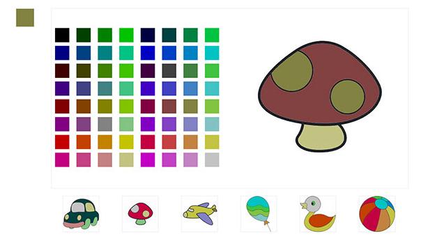 H5蘑菇填色网页