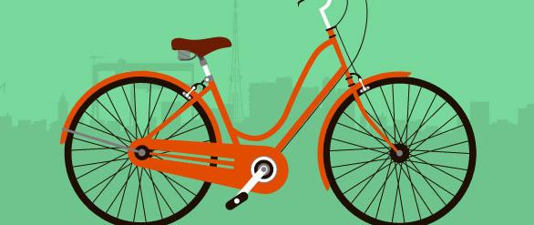 JS绿色自行车行驶动画特效