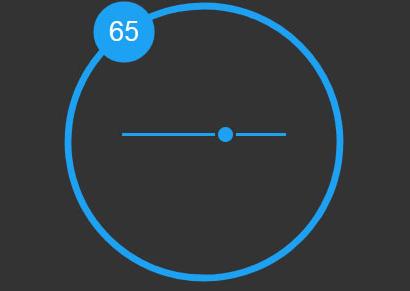 SVG交互式滑块拖动圆形进度条特效