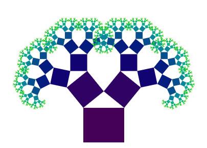 jquer+HTML5鼠标控制树生长方向形状动画特效