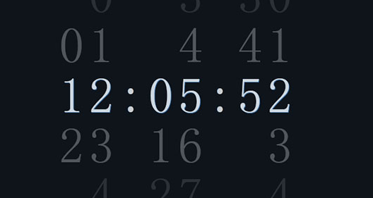 css3+jquer简单数字时钟代码