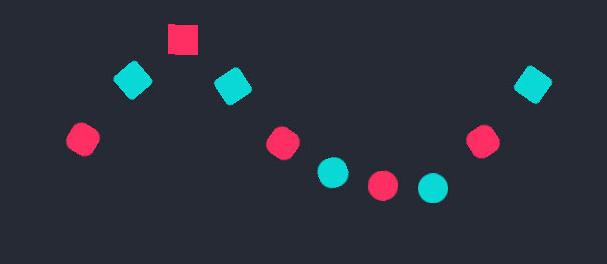 CSS3方块+圆形跳动loading加载动画