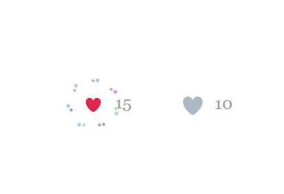 Twitter推特红心点赞H5动画按钮特效