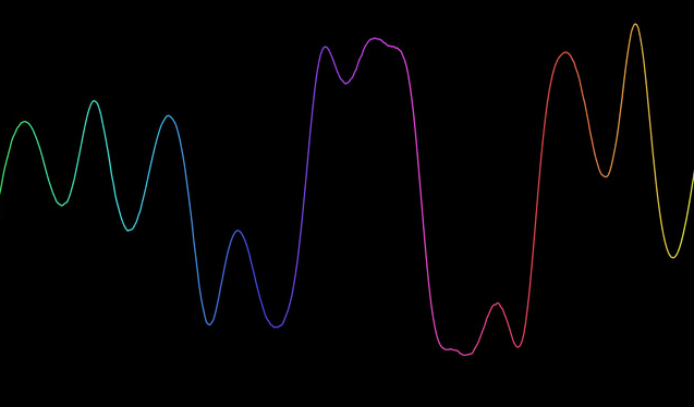 H5+Canvas炫酷彩虹色波浪线动画特效